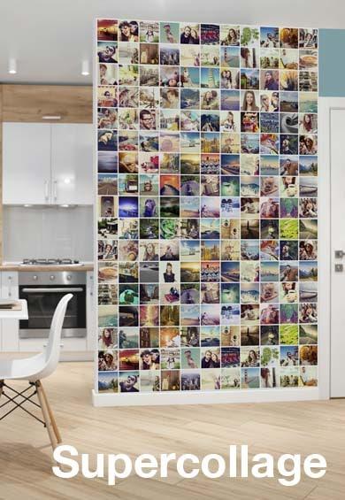 Usa toda una pared para poner tus fotos preferidas en un fotocollage impresionante