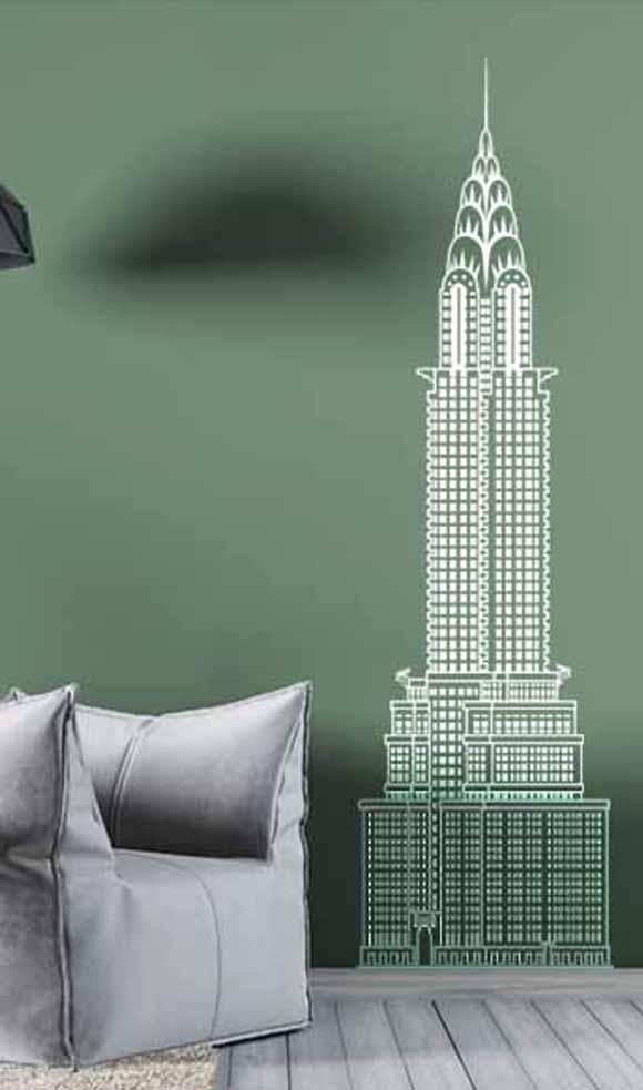 Un vinilo de core que nos muestra el Chrysler building
